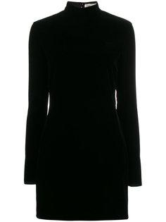 бархатное платье-мини с открытой спиной Saint Laurent