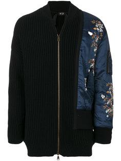 куртка с цветочной вышивкой Nº21