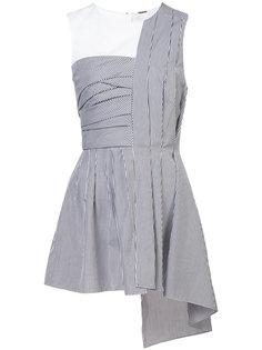 полосатая асимметричная блузка Adam Lippes