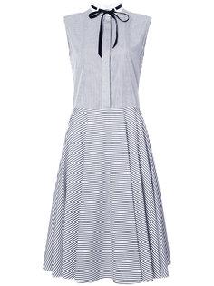полосатое платье без рукавов  Adam Lippes