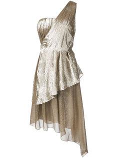 асимметричное платье на одно плечо  Adam Lippes