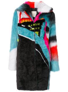 пальто дизайна колор-блок Marco De Vincenzo
