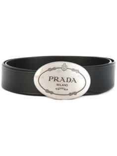 ремень с бляшкой-логотипом Prada