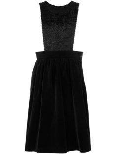 бархатное платье-фартук Comme Des Garçons Girl