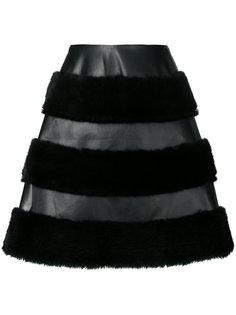 юбка с меховой отделкой  Comme Des Garçons Noir Kei Ninomiya