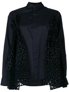 рубашка с драпировкой и аппликацией  Comme Des Garçons Noir Kei Ninomiya