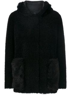 пальто с капюшоном из овчины 23 Out Of Rules