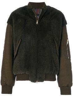 куртка-бомбер с меховыми вставками 23 Out Of Rules