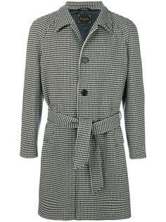 однобортное пальто с поясом Paltò