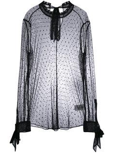 прозрачная блузка с узором в горох Equipment