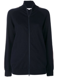 свитер на молнии с полосками на плечах Stella McCartney