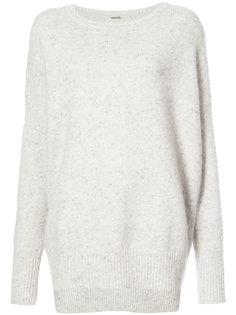 меланжевый свитер из кашемира и шерсти  Adam Lippes