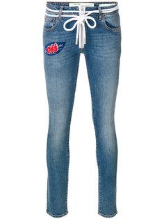 джинсы с отделкой  Off-White