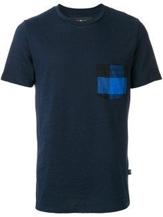 футболка с клетчатым карманом Hydrogen