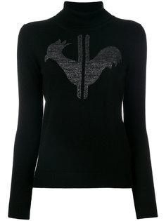 свитер с отворотом и логотипом  Rossignol