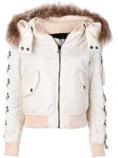 куртка с отделкой из кроличьего меха As65