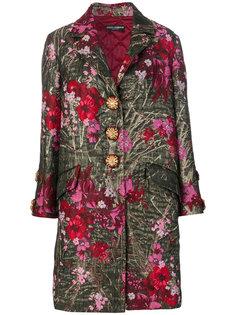 однобортное пальто с цветочным узором Dolce & Gabbana