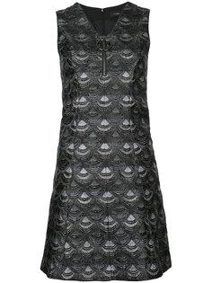 мини-платье с рисунком в виде чешуек G.V.G.V.