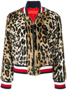 куртка бомбер с леопардовым узором Hilfiger Collection
