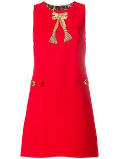 платье А-образного силуэта с аппликацией Dolce & Gabbana
