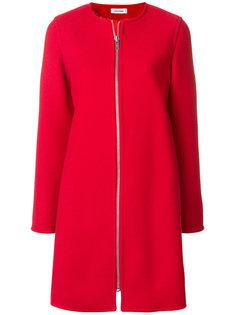 приталенное пальто на молнии  Courrèges