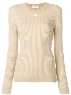 трикотажный свитер в рубчик Courrèges
