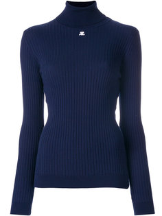 приталенный свитер в рубчик Courrèges