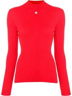 облегающий свитер в рубчик Courrèges