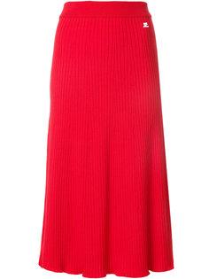расклешенная юбка в рубчик Courrèges