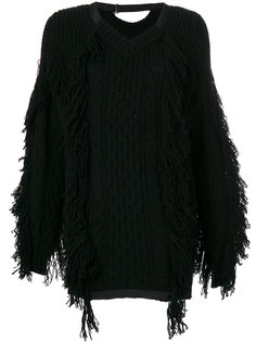 свободный свитер с бахромой  Sacai