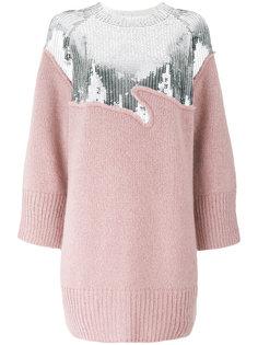платье-свитер с украшением из пайеток Aviù