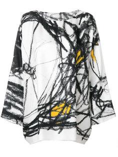 блузка с вышивкой Daniela Gregis
