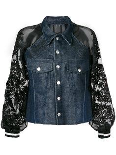 джинсовая куртка с пайетками  Aviù