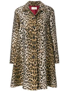 пальто с леопардовым узором Sara Battaglia
