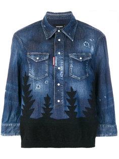 джинсовая рубашка Forest с рваными деталями Dsquared2