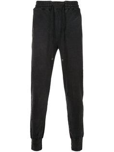 спортивные брюки с потертой отделкой Maison Mihara Yasuhiro