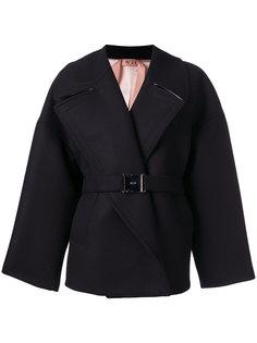 объемное пальто с поясом Nº21