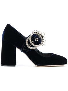 туфли с жемчужными деталями Miu Miu