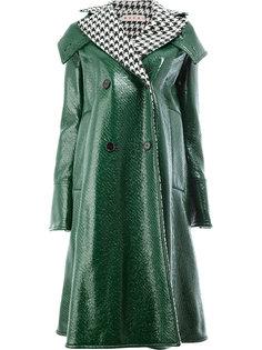 пальто с воротником в ломаную клетку  Marni