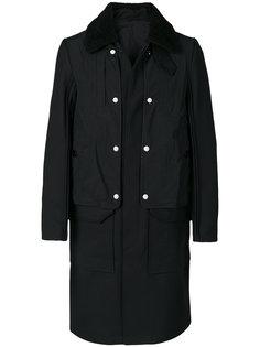 пальто с воротником из овечьего меха Tim Coppens