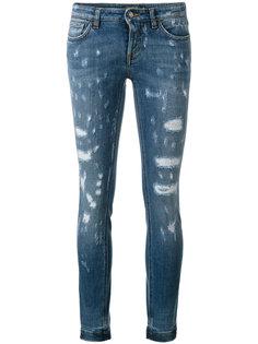 джинсы скинни с рваными деталями Dolce & Gabbana