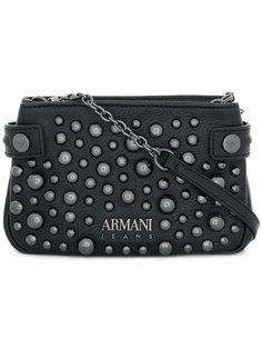сумка через плечо с логотипом и заклепками Armani Jeans