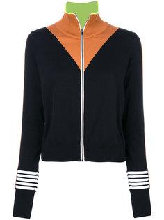 свитер с контрастными панелями Ssheena