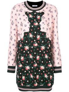 платье с цветчоным принтом Vivetta