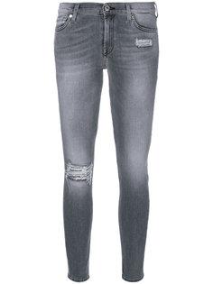 джинсы скинни с пайетками 7 For All Mankind