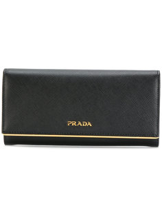 классический континентальный кошелек Prada
