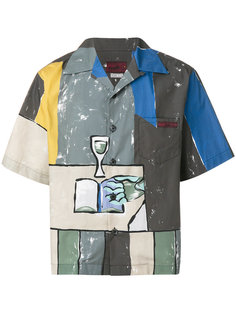 рубашка с принтом Prada