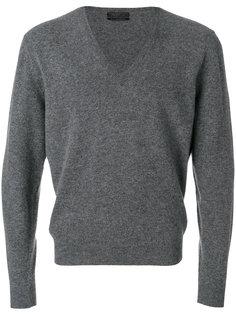 пуловер с V-образной горловиной Prada