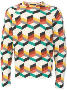 свитер со сплошным узором Prada