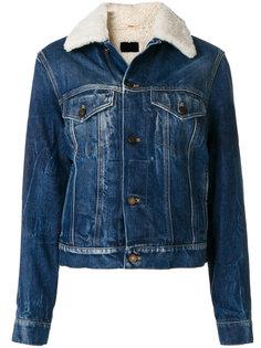 джинсовая куртка с отделкой из овечьего меха Saint Laurent